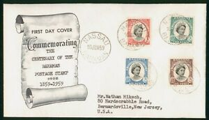 Mayfairstamps Bahamas 1959 Royalty Postage Stamps Quad Frank First Day Cover wwp