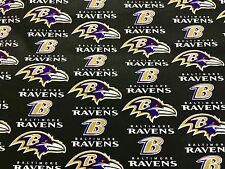 """BALTIMORE RAVENS NFL 60"""" Cotton Fabric BTY Fabric Traditions B"""