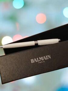 Balmain Paris Kugelschreiber weiß NEU