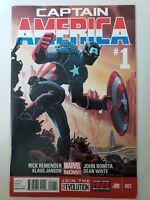 CAPTAIN AMERICA #1 (2013) MARVEL NOW! COMICS JOHN ROMITA JR ART! RICK REMENDER