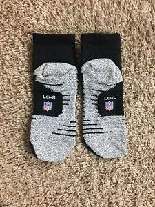 Nike Grip Steelers Raiders NFL Football Team Issued Socks Ankle Socks Size Large