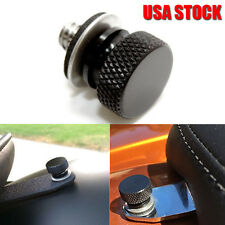 Stainless Steel Black Billet Aluminum nut Solo Seat Rack Bolt 4 96-16 Harley