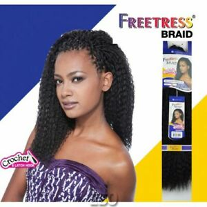 "Freetress Bulk Long Curly Crochet Braid Hair Extension BRAZILIAN BRAID 20"""