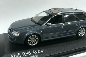 modellino Audi RS6 Avant Minichamps 1:43 Auto Die-cast Grey Metallic sport speed