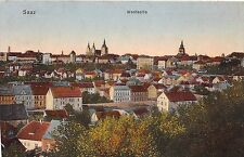 Czech Republic postcard Saaz Westseite panorama view Zatec