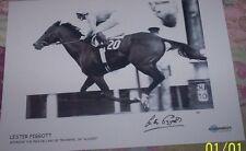 Lester PIGGOTT Signed Autograph Photograph Jockey WINNING L'ARC DE TRIOMPHE