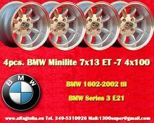 4 Cerchi BMW OPEL VW Minilite 7x13 ET-7 4x100 Wheels Felgen Llantas Jantes