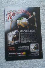 WAR OF THE WORLDS - JEFF WAYNE - ADVERT - 21 x 30cm.