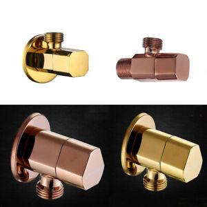 """Rose Gold or Gold G1/2""""Shut Off Valve For Bathroom Toilet Bidet Sprayer Shower"""