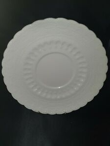 """Copeland Spode Embossed Cream Ware Side / Starter Plate 7""""/19cmD Circles & Dots"""