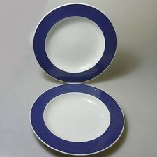 2 x Rosenthal Form 200 ABC Teller tief Essteller blauer Rand Baumann Entwurf