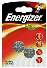 2 x Energizer cr2025 Batteria A Bottone Al Litio 3v 2025