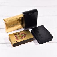 Cartes De Jeu En Plastique Imperméables Noires De Tisonnier De Diamant FE