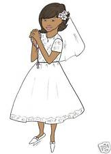 Personalized First Communion cards African American