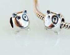 "New Auth 925 Sterling Silver Charm Bead fits Fashion Bracelets -  ""Spotty Dog"""