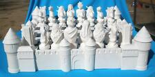 8 PIECE SIDES & CORNERS ONLY FOR DRAGON LORE CHESS SET CERAMIC BISQUE U-PAINT