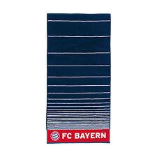 FC Bayern München Handtuch gestreift navy Gr. 50 x 100 cm  2018 NEU !