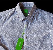 "Men's HUGO BOSS Green Label White Black ""Maze"" Shirt L Large NWT NEW Slim Fit"