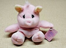 """Precious Moments Tender Tails 8"""" Pink Pig Piggy Bean Plush Animal with TAG"""