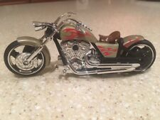 Iron Chopper Motorcycle Die Cast 1:18 Scale Working Steering Freewheeling Gold