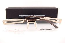 New Porsche Design Eyeglass Frames P8703 8703 B Titan Gold Made in Japan SZ 56