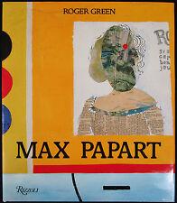 MAX PAPART, Hardcover Book w/ Original Stone-Signed Litho, English Version