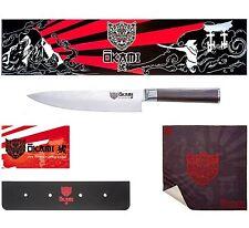 Okami Knives 8 Inch Japanese Chef's Knife - Premium Damascus Blade