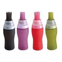 Bergner Silicone Oil Bottle With Brush Baking BBQ Basting Brush Pastry Oil Brush
