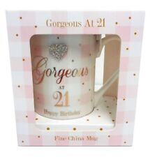 21st Birthday Gift Girls Mug Age Presents For Her Box Diamante Cute Pink Luxury