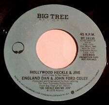 England Dan & John Ford Coley 45 Hollywood Heckle & Jive  PROMO