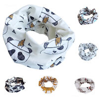 HD_ Kids Scarf Winter Soft Cotton Infinity Baby Circle Neck Warmer Snood Scarves
