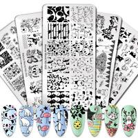 NICOLE DIARY Nail Stamping Plates Animals Theme Nail Art Image Templates Tool