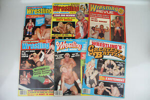 VINTAGE SPORTS REVIEW WRESTLING MAGAZINE 1978 1979 6 ISSUES LOT REVUE ACTION!