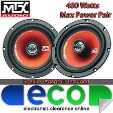 Ford Fiesta MK7 2008 On MTX 16cm 480 Watts 2 Way Front Door Car Speaker Upgrade