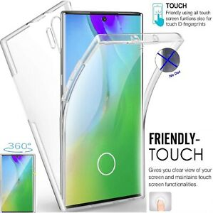 360°Full Protection Clear Silicone Case Cover For Samsung Galaxy Note 8 9 10 PRO
