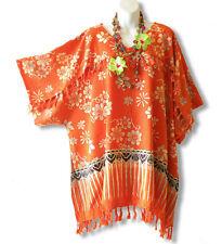 KB415 Floral Kimono Plus Size Batik Caftan Rayon Tunic Blouse Top - up to 5X