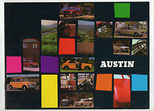 1971 Austin car brochure: Mini/Clubman/1275 GT, 1100/1300, Maxi, 1800, 3 Litre
