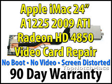 "APPLE IMAC 24"" 2009 A1225 ATI RADEON HD 4850 VIDEO/GRAPHICS CARD REPAIR 661-5135"