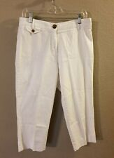 Counterparts Women's Size 10 White Cropped Pants Cotton Blend