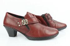 Rieker Court Shoes Trotters Leather Bordeaux T 40 Very Good Condition