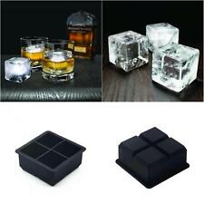 4 Grid Big Giant Jumbo King Size Large Ice Cube Square Tray Mold Mould B