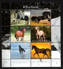 2 DJIBOUTI -2011.ANIMALS. Several breeds HORSES .BLOCK  MNH**.