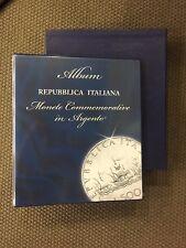 ABAFIL Album / Raccoglitore CARAVEL per monete EMESSE in ARGENTO DAL 1958 2001