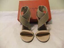 DONALD J PLINER Alli Tan Patent Leather Heel Pump Sandal Dress Size 8 NIB $298