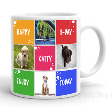 Personalized Collage Coffee Mug Custom Cup White Gift Happy Birthday Photos