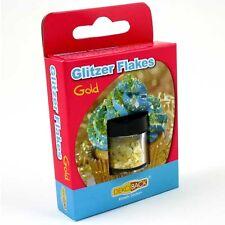 Essbare Glitter-Flakes in goldfarben, 1,5g Döschen, Streudekor
