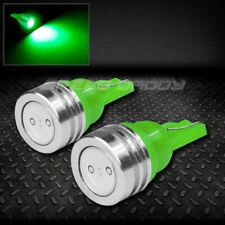 PAIR HIGH POWER LED T10 194 168 W5W GREEN INTERIOR DOME WEDGE LIGHT BULB/BULBS