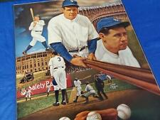 "Vintage Sports Impressions 1988 Babe Ruth 18x20 Poster ""The Sultan Of Swat"""
