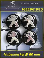 Nabendeckel, Felgendeckel, Peugeot Löwe, Logo, Schwarz Ø 60 mm 1622961980