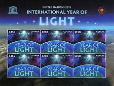 Guyana 2015 MNH UNESCO United Nations International Year of Light 6v M/S